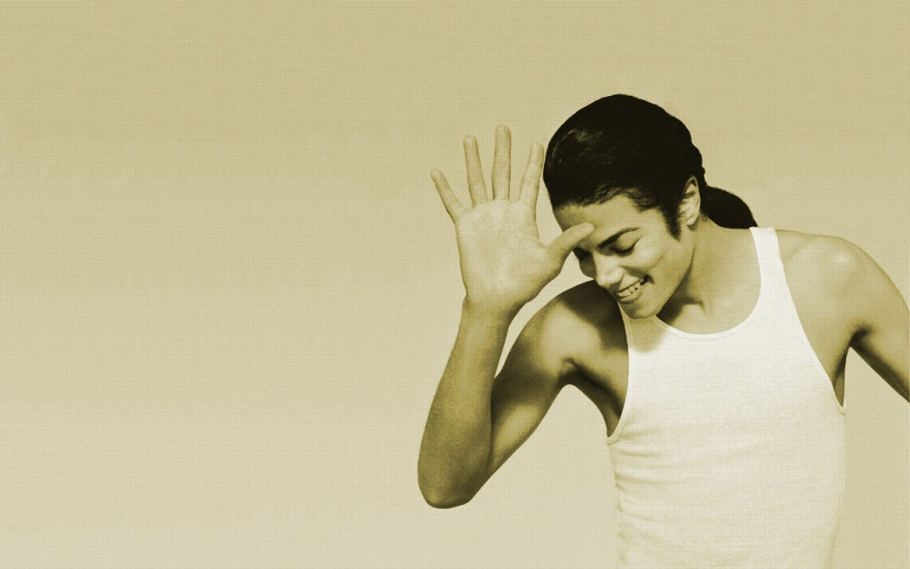 Michael Jackson Smiling. I just can't stop loving you.