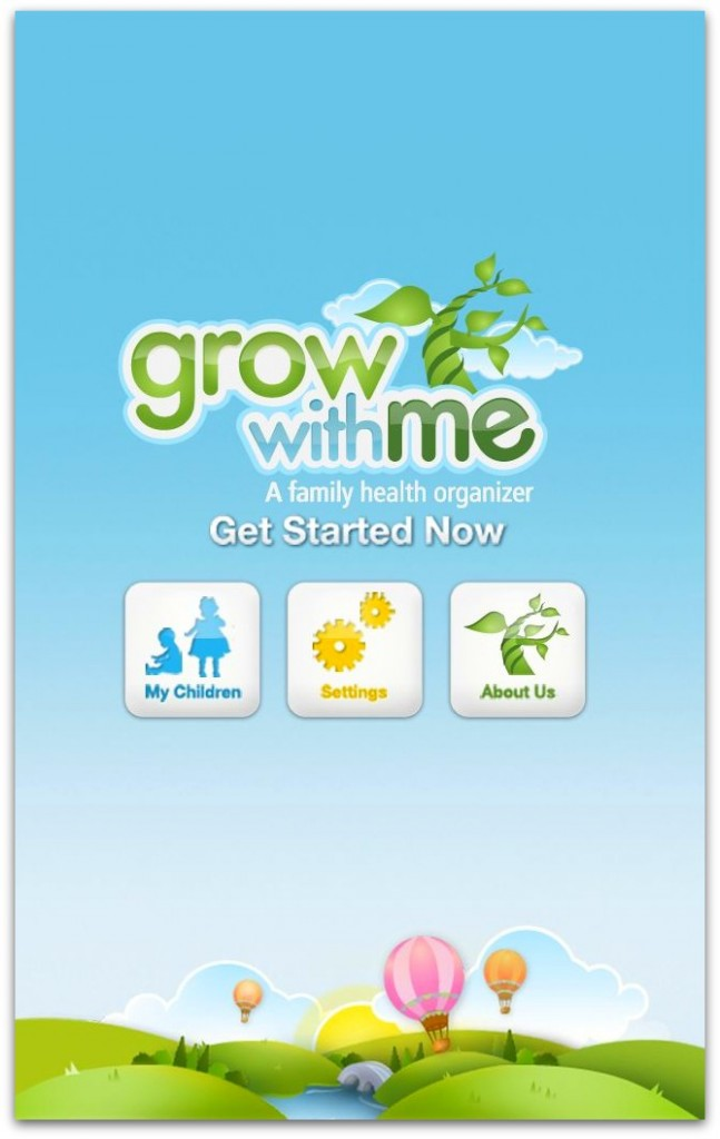Grow With Me App. Track Your Child's Growth from the Beginning!