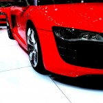 A red Audi R8.