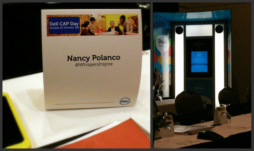 A place card with the name Nancy Polanco.