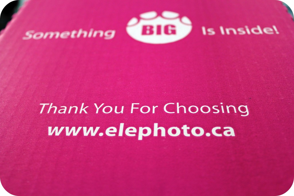 An Elephoto box with writing.