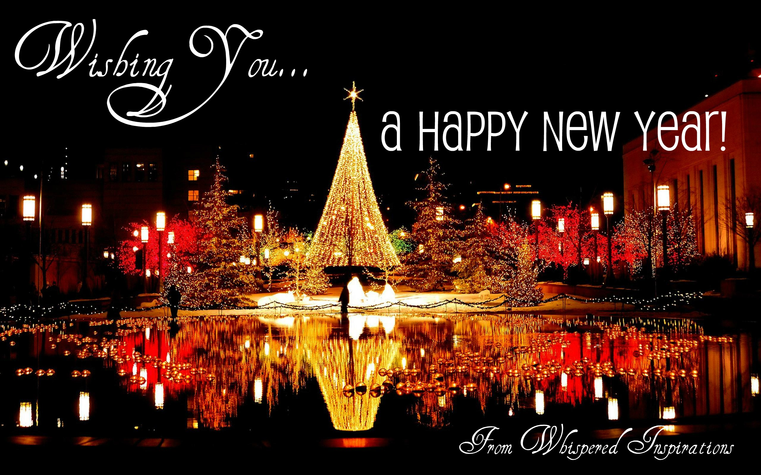 wishing you all a blessed happy new year whispered inspirations