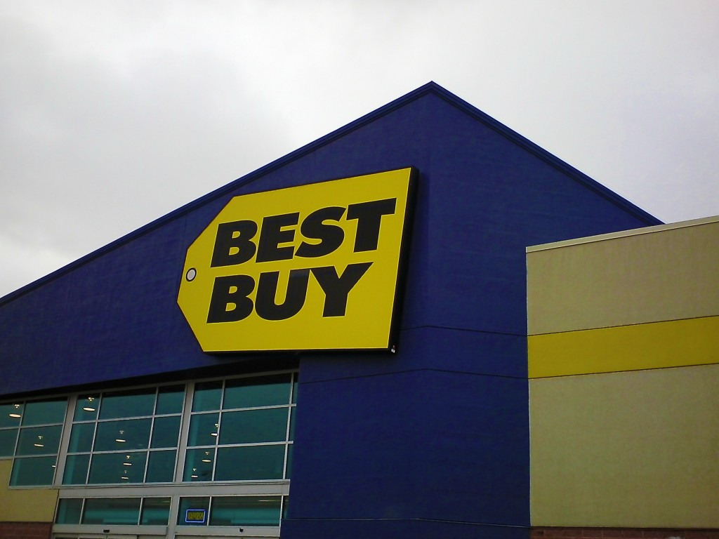 The front of the Best Buy in Windsor.