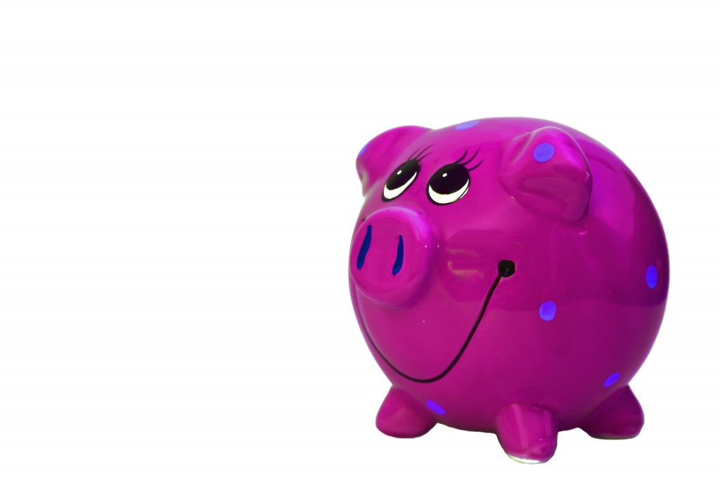 A pink polka dot piggy bank!