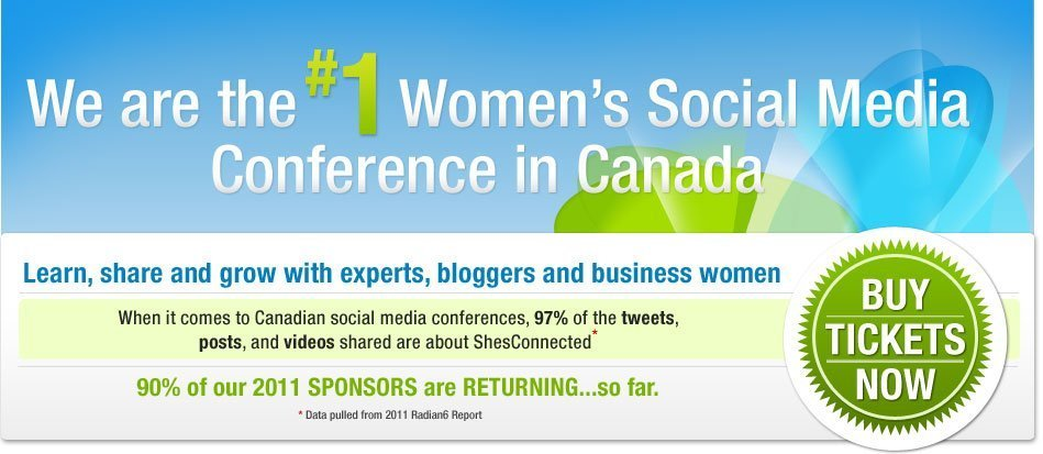ShesConnected 2012: Join Us to Connect with Bloggers and Brands!