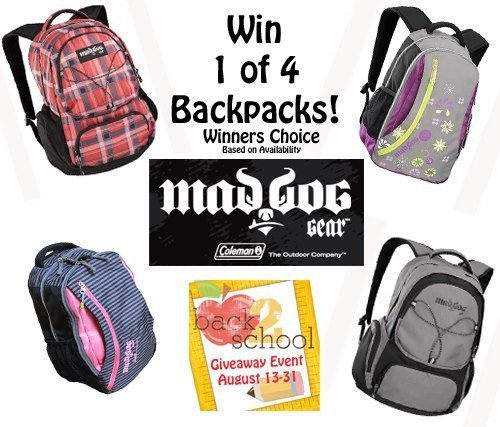#BackToSchool Event: Win 1 of 4 Mad Dog Gear Backpacks! (US)