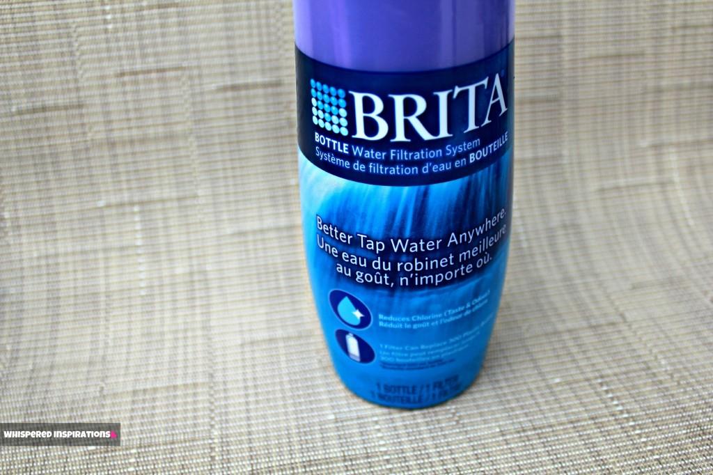 Close up of Brita bottle.