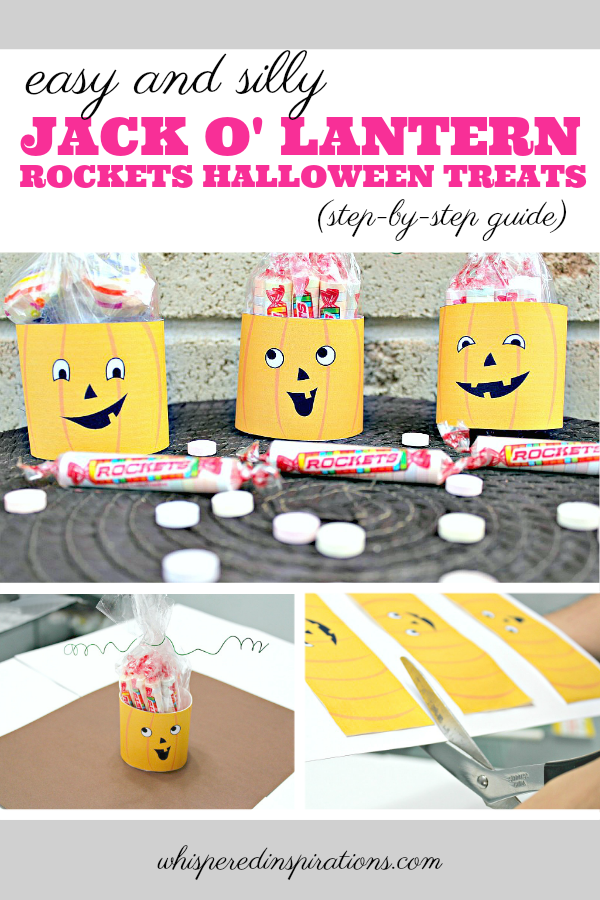 Check out these super easy Halloween Treat Bags to make for your ghosts and ghouls! Made with delicious Rockets Halloween Candy! #DIY #HalloweenCrafts