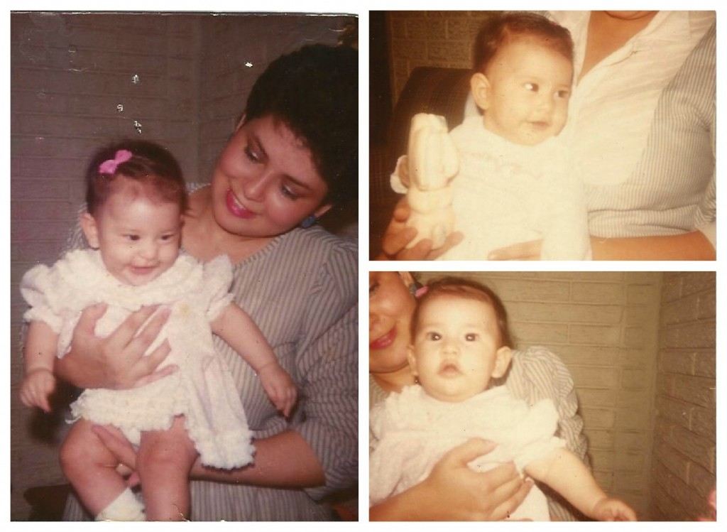 Pictures of my mother, Milagro, and I. Let's talk about self-esteem.