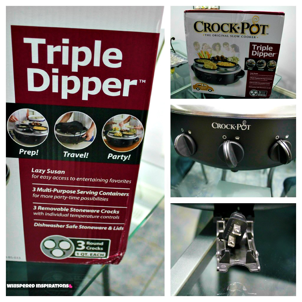 Be The Life Of The Party With The Crockpot Triple Dipper This Holiday  Season! #holidaygiftguide  Whispered Inspirations