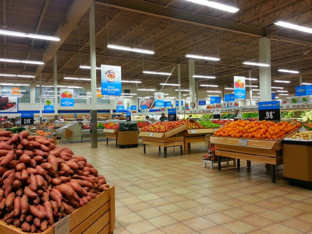 The Real Canadian Superstore Loblaws, the produce section.