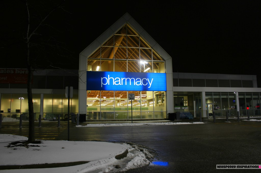 The Real Canadian Superstore Loblaws pharmacy sign.