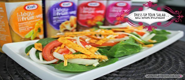 Kraft Pourables: Dress Your Salads Up & Try 4 New Tantalizing Salad Dressings–Made With Real Fruits & Veggies! #NewPourables