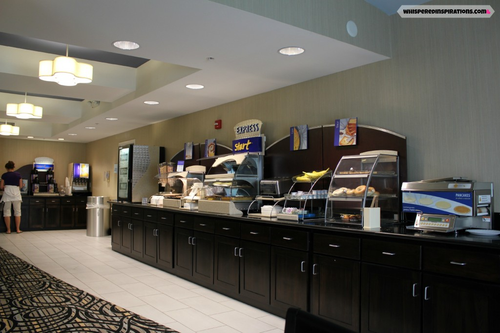The Holiday Inn Express Breakfast area.