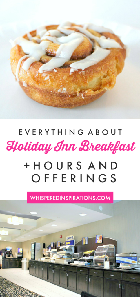 Check out Holiday Inn Express' Complimentary Breakfast, served fresh, hot, every day! Try their signature Cinnamon Rolls and Pancakes. Choose Holiday Inn Express. We come for the Holiday Inn breakfast alone. #familytravel