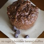 No Sugar Chocolate Banana Muffins Recipe.