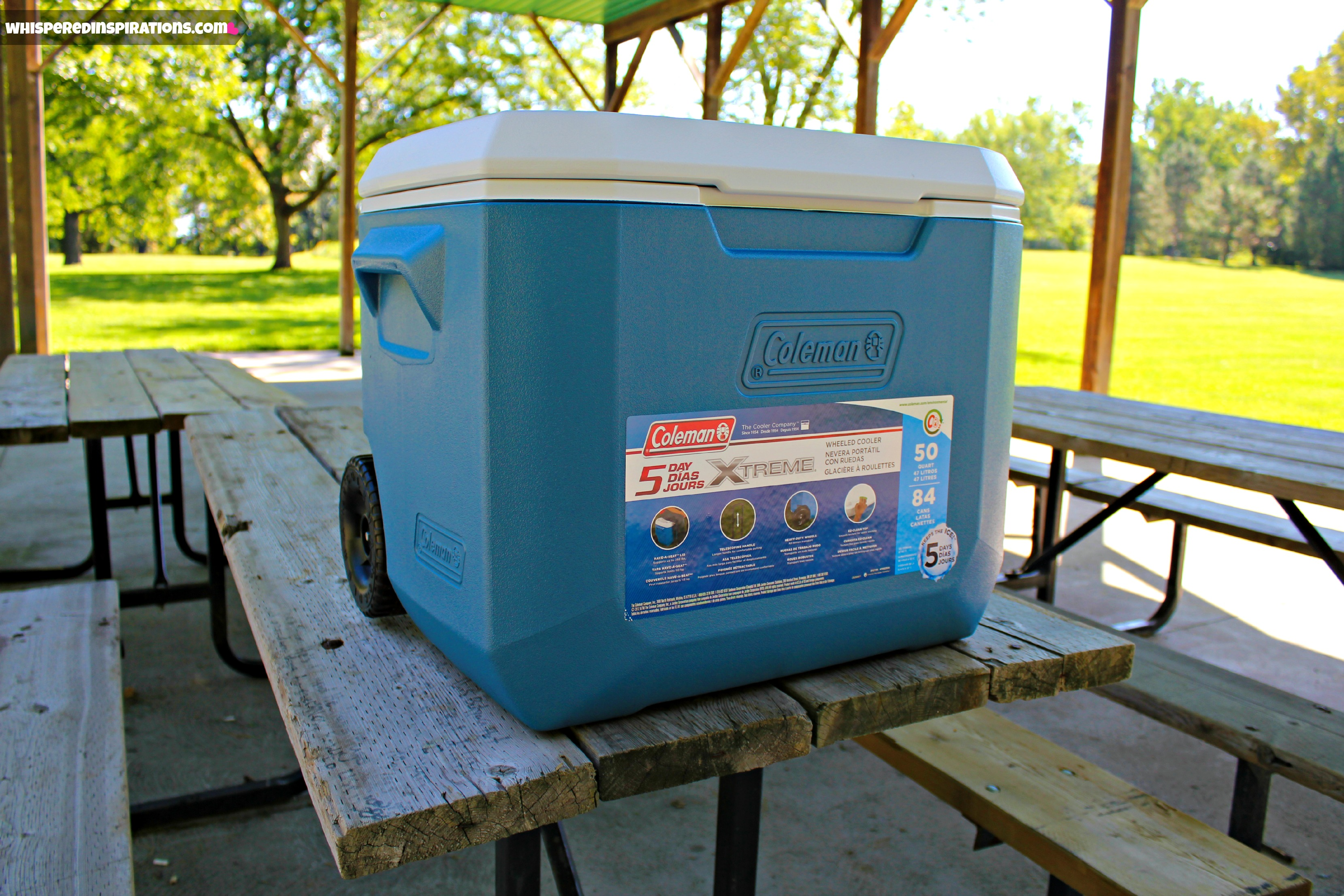 Picnicking with Coleman: The Coleman 70 Qt. Xtreme Cooler Will Keep Your Ice Frozen for 5 Days & Keep Your Drinks Cool & Food Fresh!