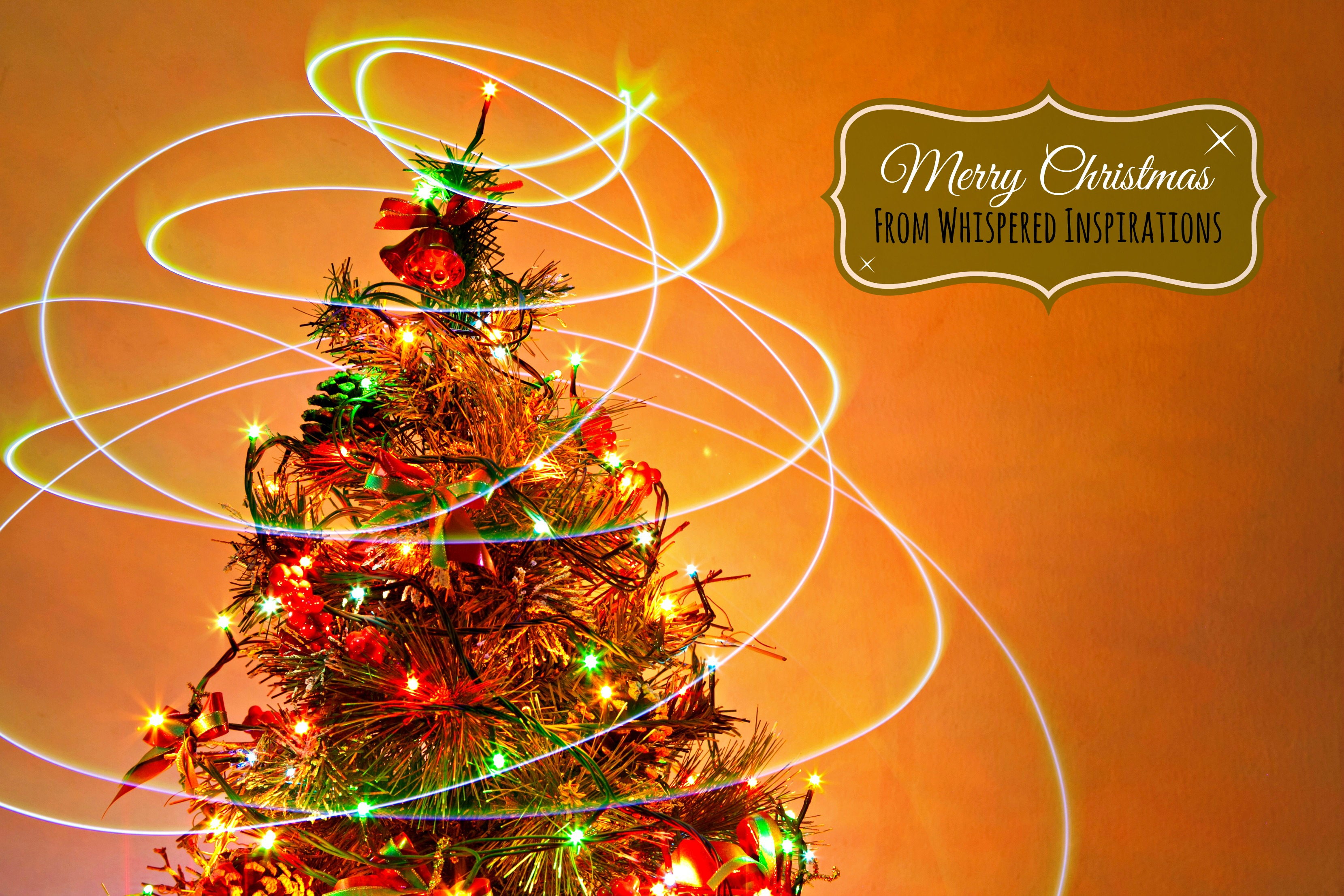 Merry Christmas from Whispered Inspirations: Wishing You the Merriest of Holidays to You and Yours! #christmas
