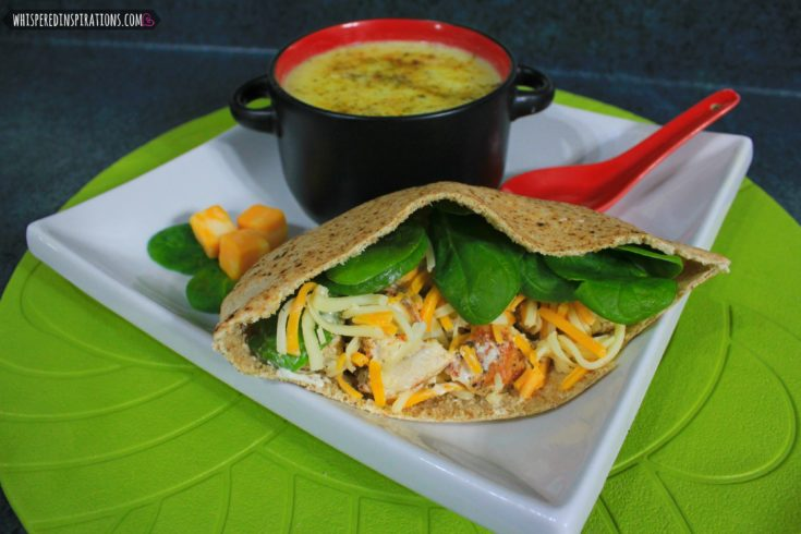 Mama Milagro's Chunky Cream of Potato Soup and Chicken Pita Value Meal