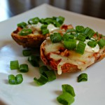 Creamy Herb & Garlic Pulled Pork Potato Skins with Ranch Dill Sauce. #MemorableMelts