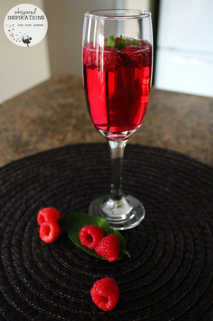 SodaStream drink is now a spritzers with raspberry and mint.