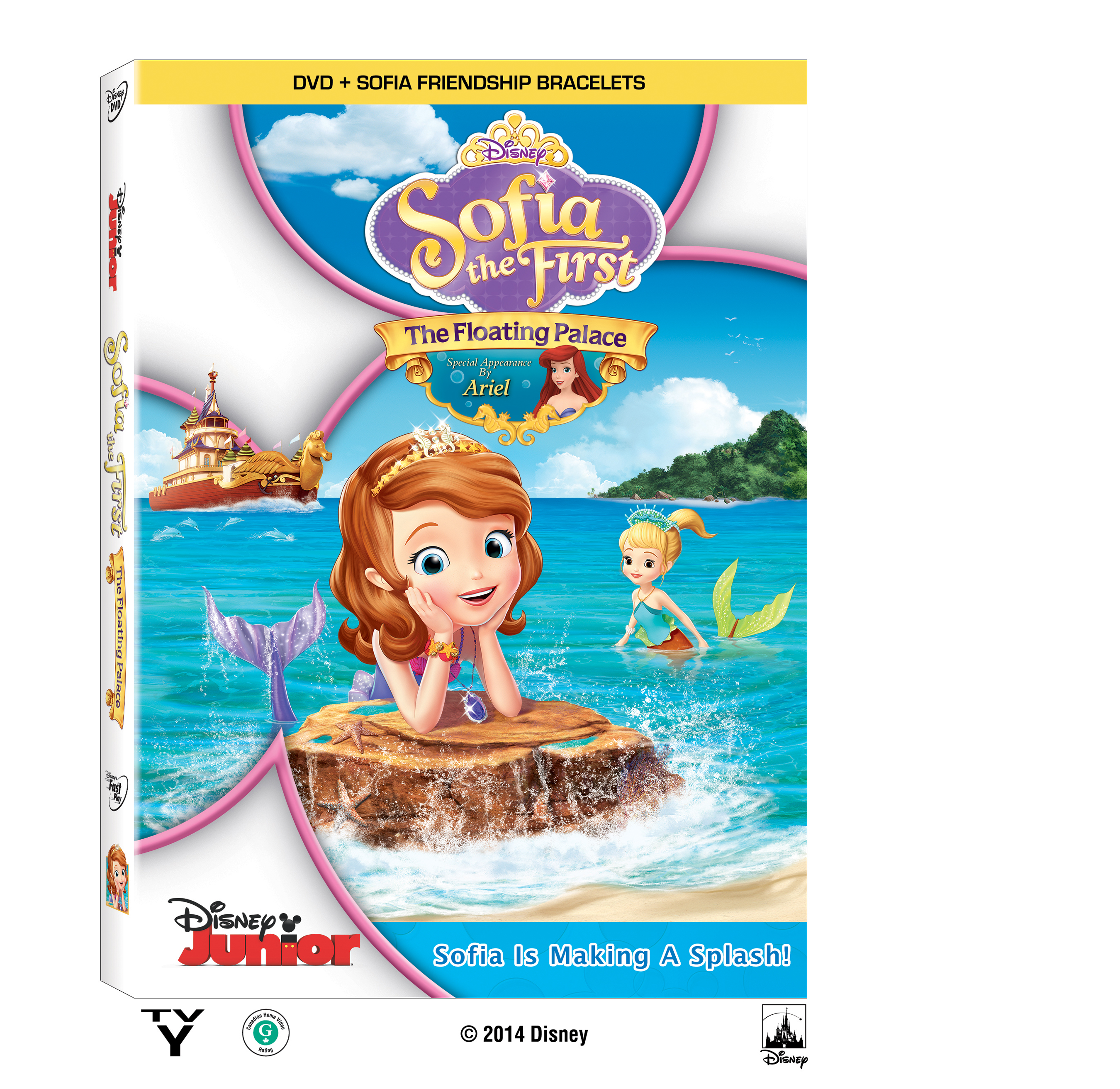Sofia the First: The Floating Palace DVD featuring Ariel the Mermaid and BONUS Friendship Bracelets! #disney