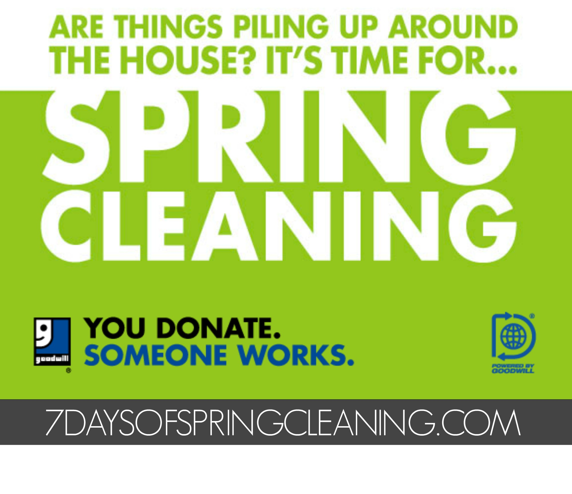 7 Days of Spring Cleaning with Goodwill EKL: Declutter, Downsize, Donate & Get Your Home Spring Ready! #7DaysOfSpringCleaning