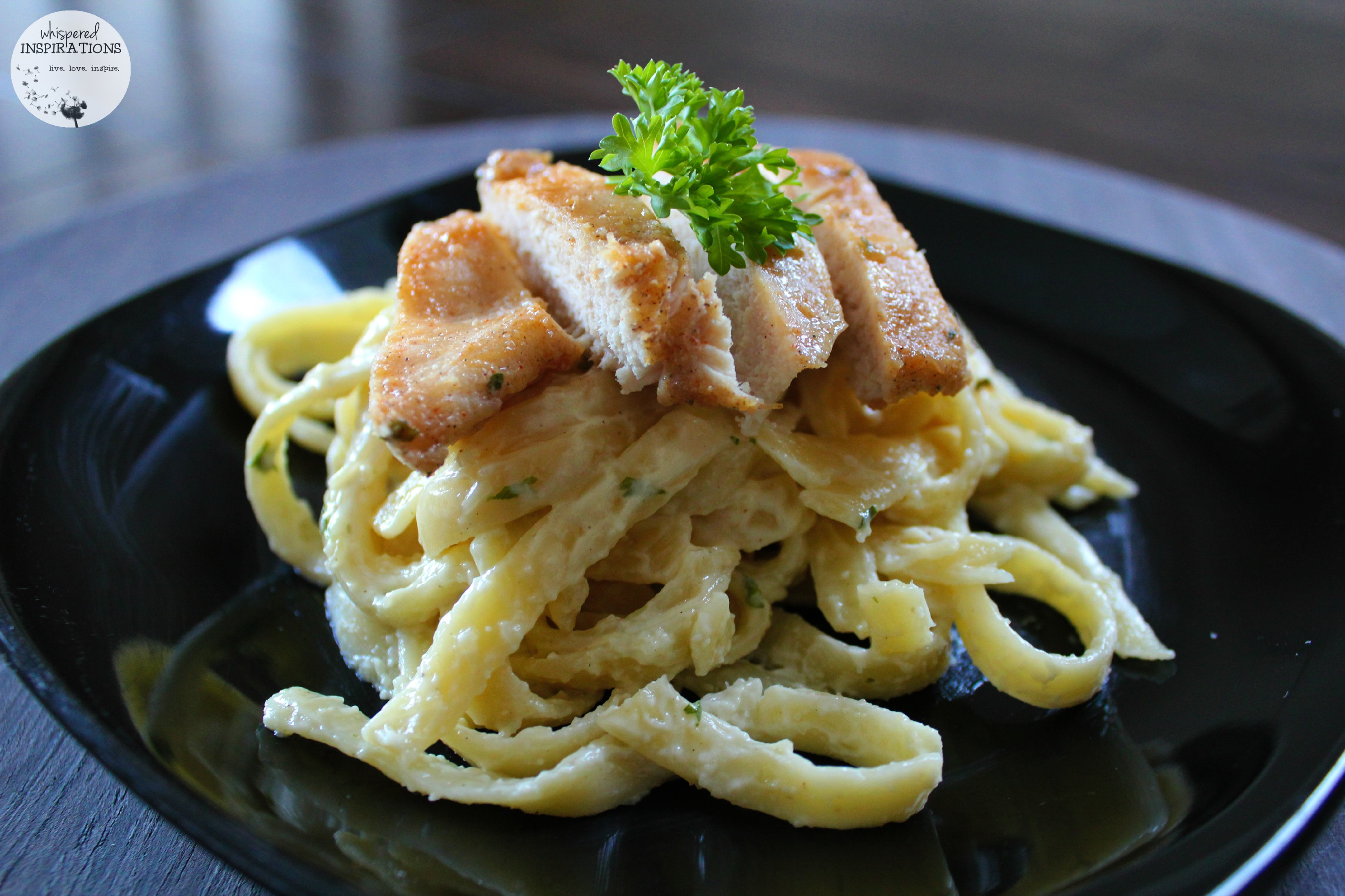 Easy Kids Recipe: Kids Chicken Fettuccine Alfredo with Fresh Herbs! Get Your Kids In The Kitchen! #recipes