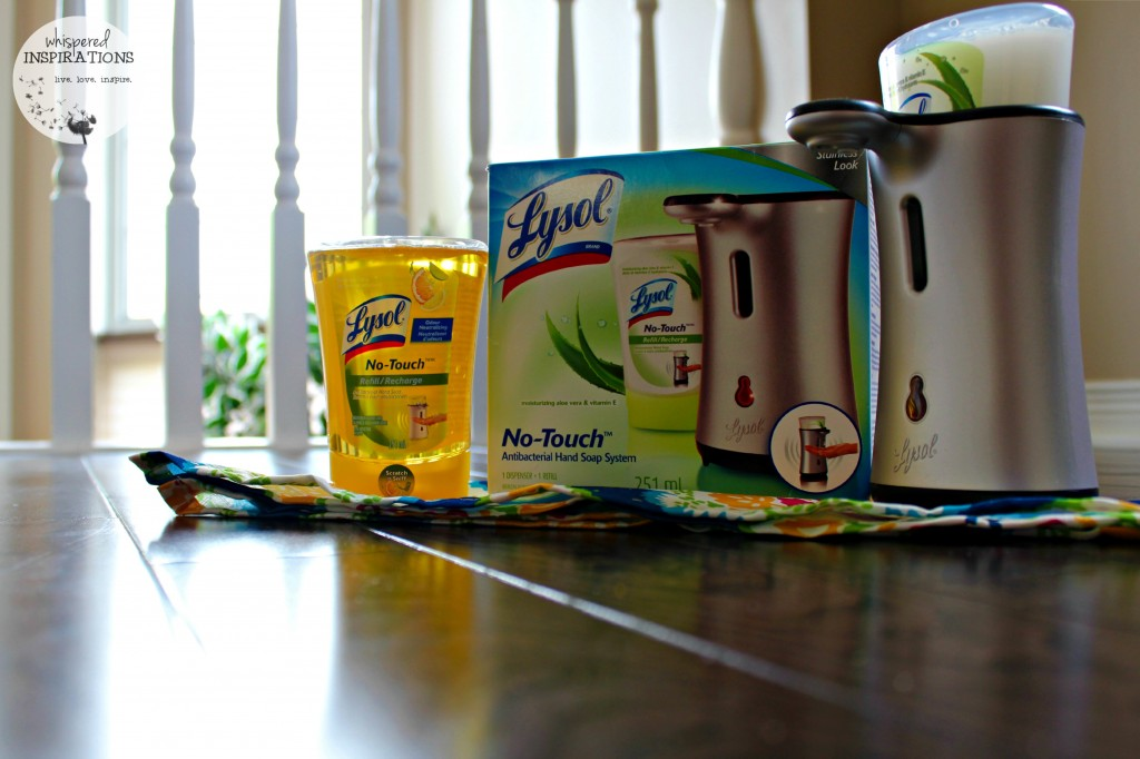 The Lysol No Touch Antibacterial Hand Soap System.