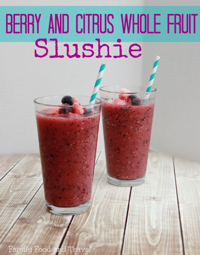 Berry and Citrus Whole Fruit Slushie .