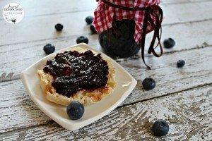 Fresh Organic Blueberry Jam Sweetened with Stevia