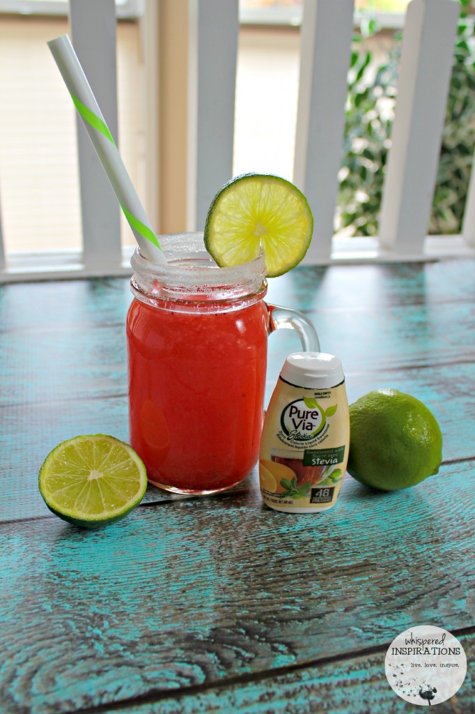Strawberry Limeade with Pure Via Liquid Sweetener