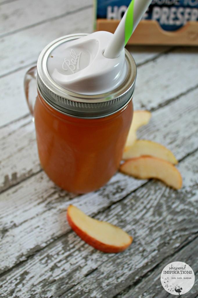 Apple Cider in a mason jar from Bernardin.