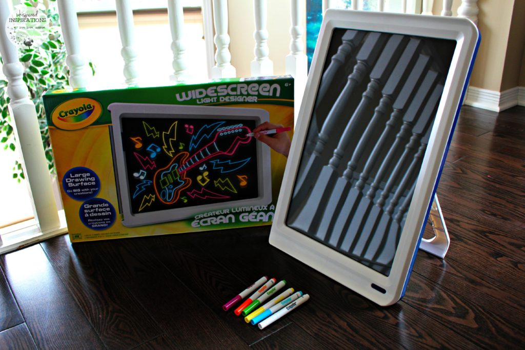 Crayola Widescreen Light Designer: Scribble, Doodle and Write Whatever You Imagine and Then–Wipe It Away! #HolidayGiftGuide
