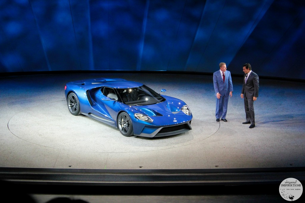 The Ford GT is revealed for the first time.