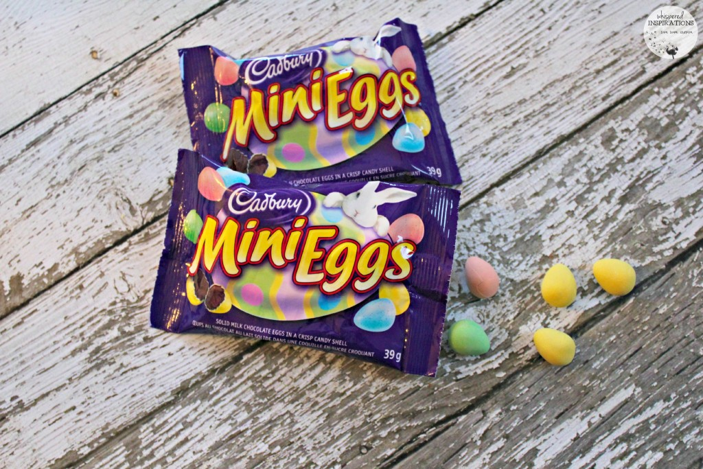 Two packages of Cadbury Mini-Eggs are shown.