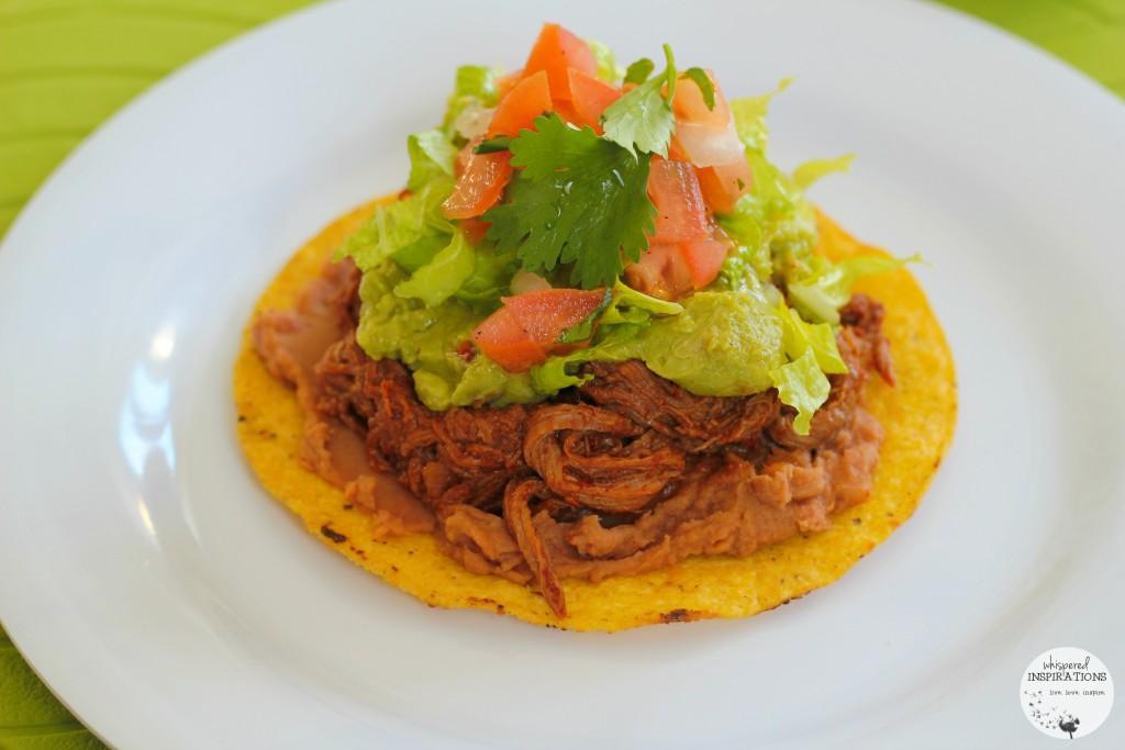 Salvadorean beef enchilada.
