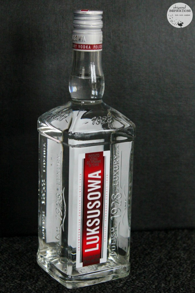 Luksosowa Vodka bottle, ready to be served.