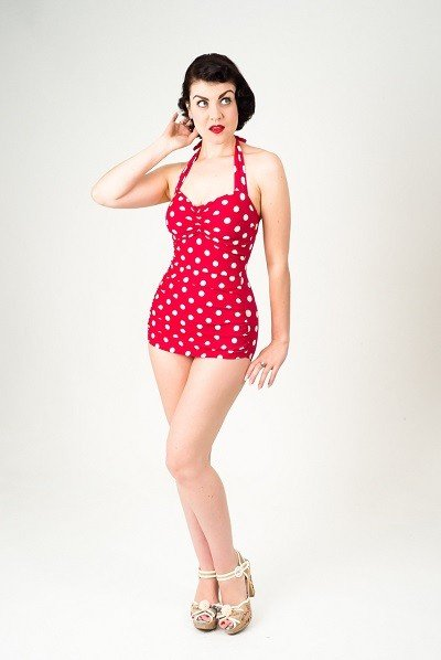 vintage_style_swimsuit_polka_dots_redwhite