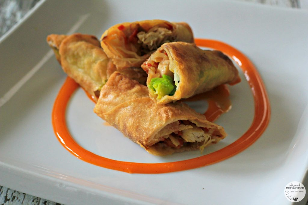 Chicken Avocado Egg Rolls & Sweet & Spicy Dark Chocolate Bark. Cooking with Club House Flavoured Sea Salt Grinders! #recipe