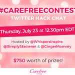 RSVP for the Carefree Hacks Twitter Party & Make Life Easy & Be Entered to WIN Prizes! #CarefreeContest