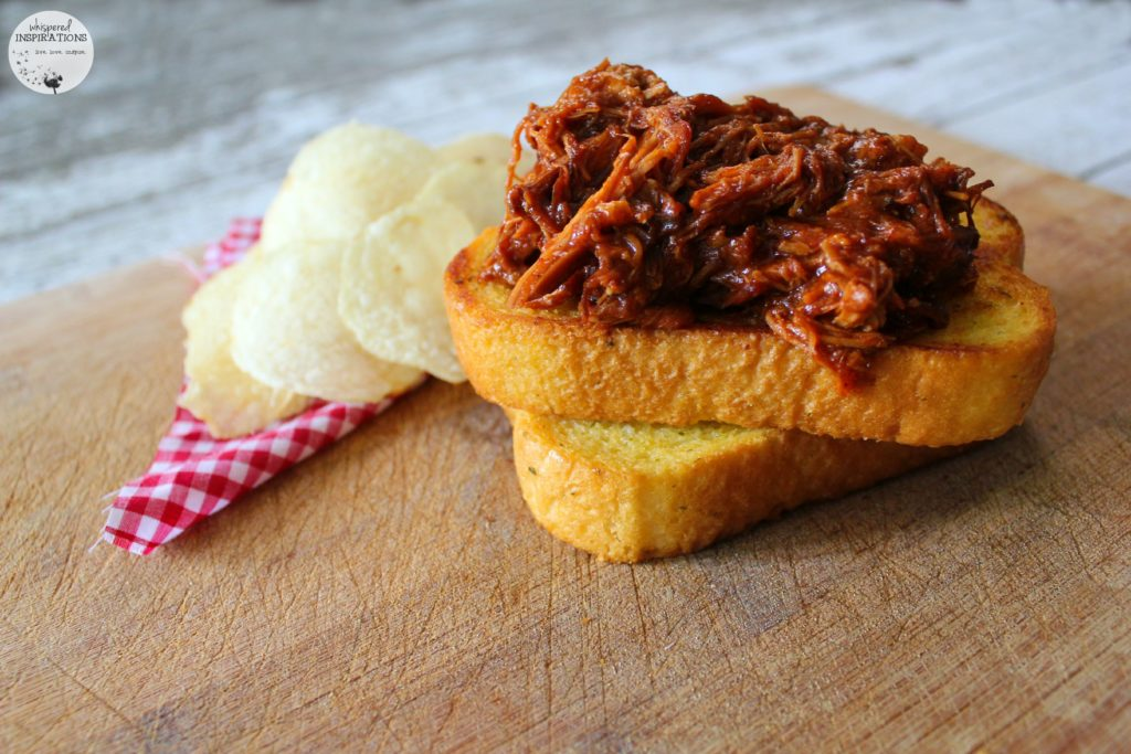 Easy Slow Cooker Pulled Pork on Texas Toast. #recipe - Whispered ...