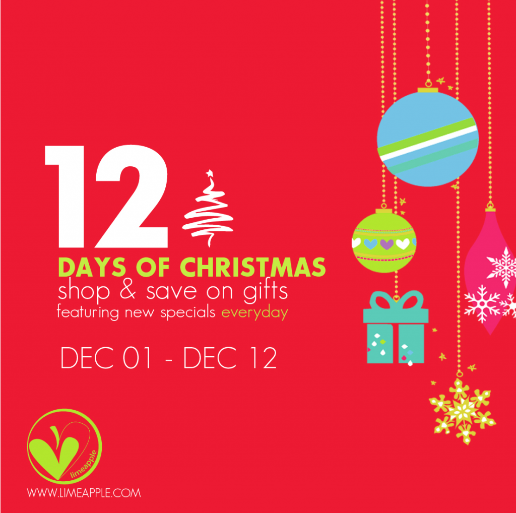 12 days of christmas with Limeapple
