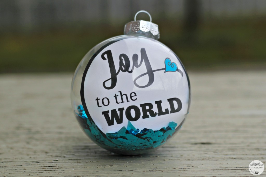 A DIY Joy to the World Ornament