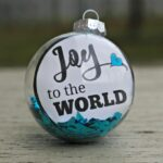 Joy to The World Ornament: Perfect For an Ornament Exchange, Last-Minute Gift or Quick Decoration! #NeverRunOut