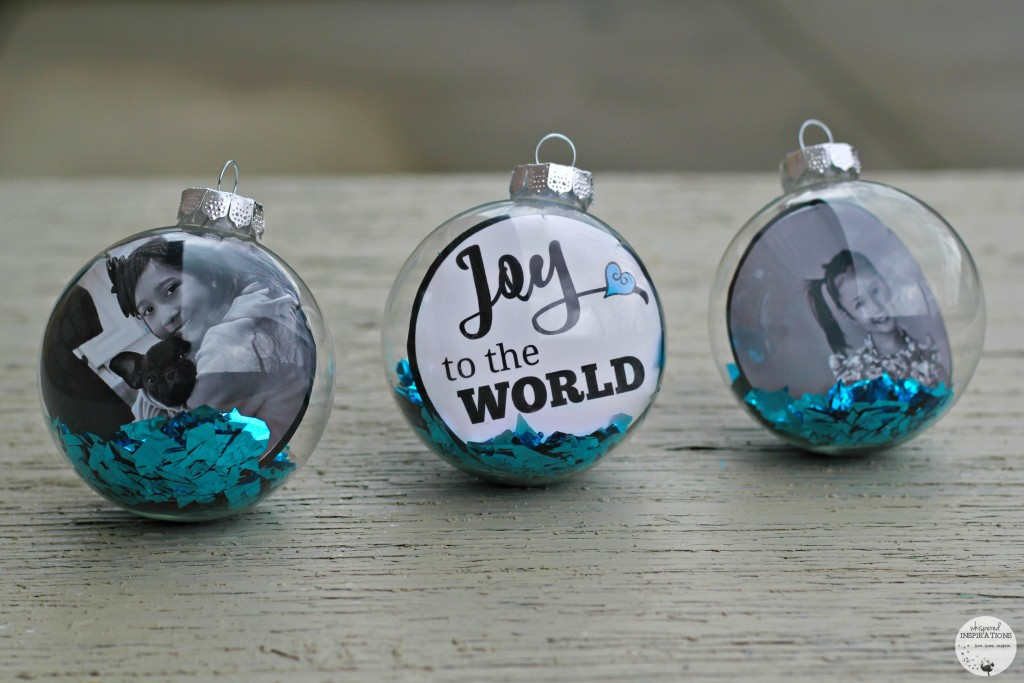 DIY Christmas ornaments, Joy to the World ornament and personalized ones.