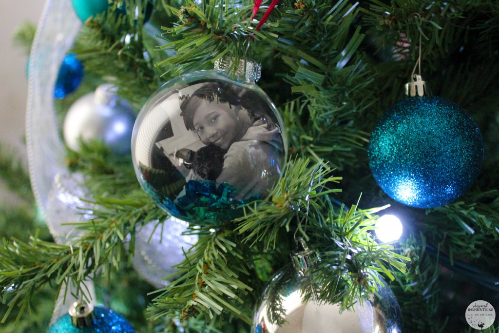 A personalized ornament with Gabby and Lincoln.