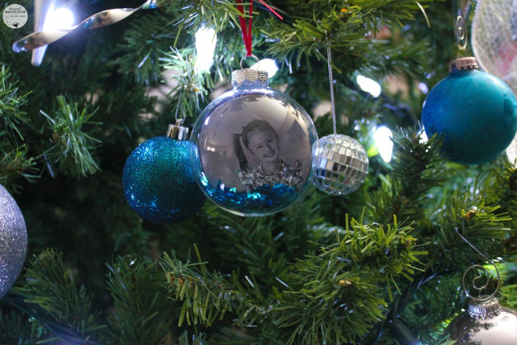 A custom photo ornament with Mimi's picture.