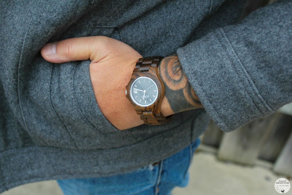 JORD Watches the Ely Series is pictured on a wrist with tattoos.