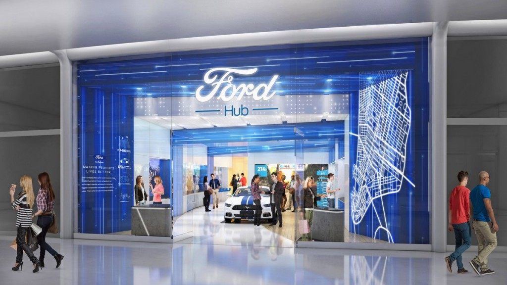 FordPass includes the opening of FordHubs, where consumers can learn more about Ford's latest innovations and mobility services in a relaxed, comfortable setting. FordHubs will be located in urban storefronts, with the first set to open in Westfield World Trade Center in New York later this year. FordHubs also are slated to open in San Francisco, London and Shanghai.